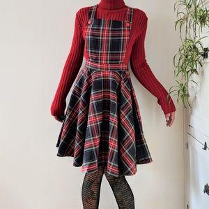 Dresses & Skirts - Vintage handmade plaid pinafore
